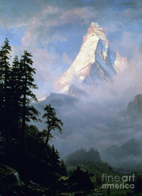 19th Century Poster featuring the photograph Bierstadt: Matterhorn by Granger