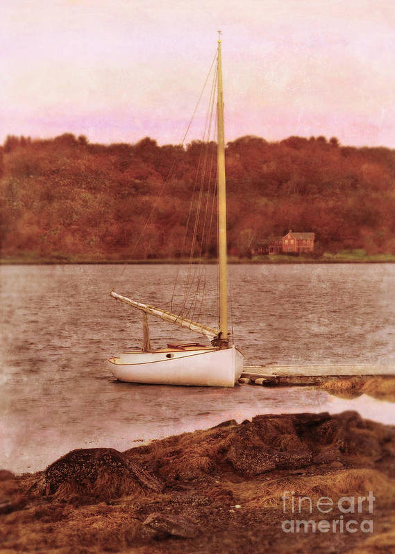 Boat Poster featuring the photograph Boat Docked On The River by Jill Battaglia