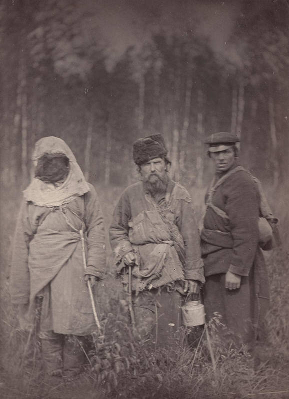 1880s Poster featuring the photograph Siberia, Three Escaped Convicts by Everett