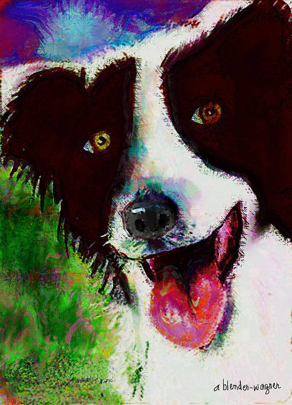 Dog Poster featuring the digital art Bob by Arline Wagner