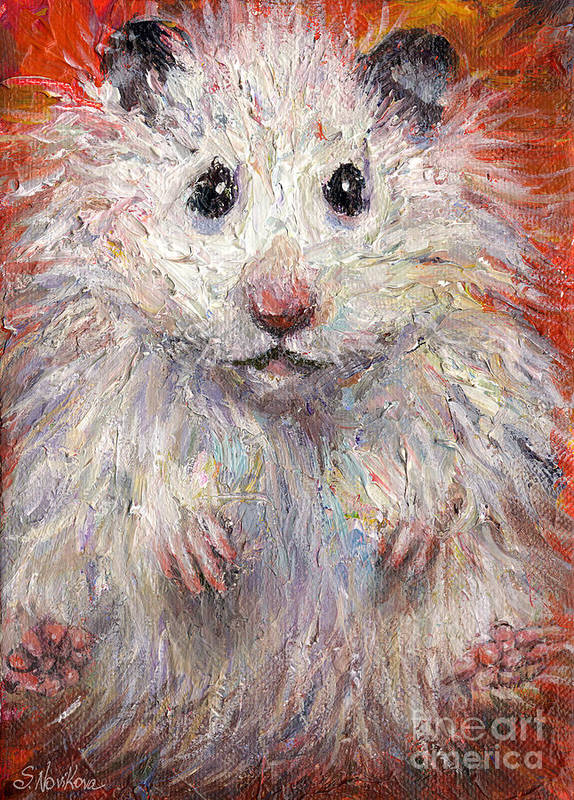 Hamster Poster featuring the painting Hamster Painting by Svetlana Novikova