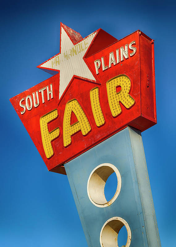 Lubbock Poster featuring the photograph Panhandle South Plains Fair Sign by Stephen Stookey