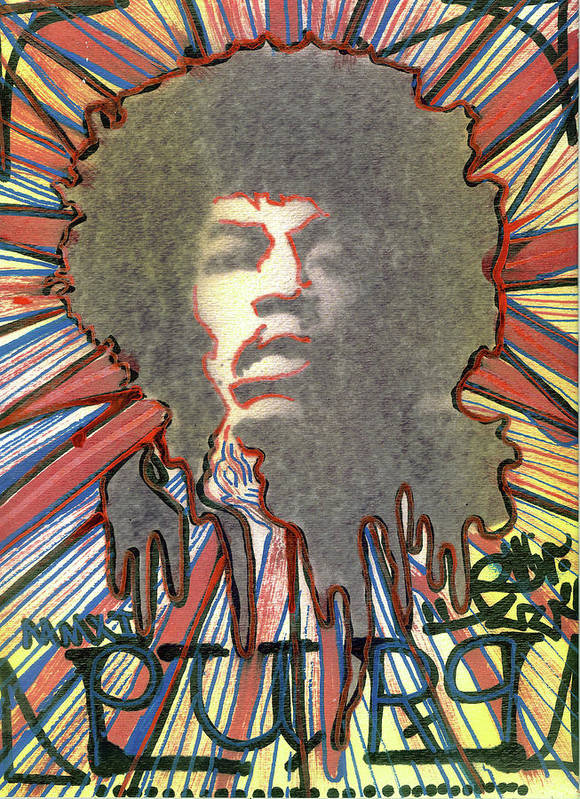 Rwjr Poster featuring the painting Purp by Robert Wolverton Jr