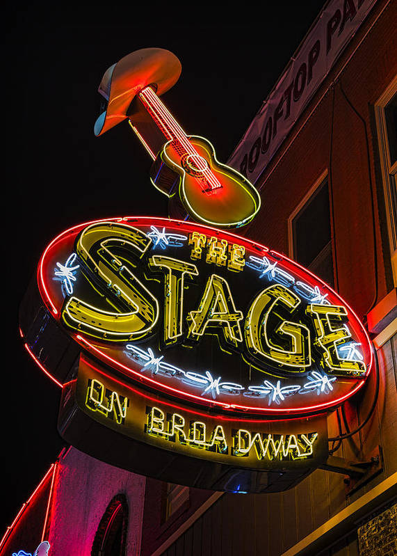 Nashville Poster featuring the photograph The Stage On Broadway by Stephen Stookey