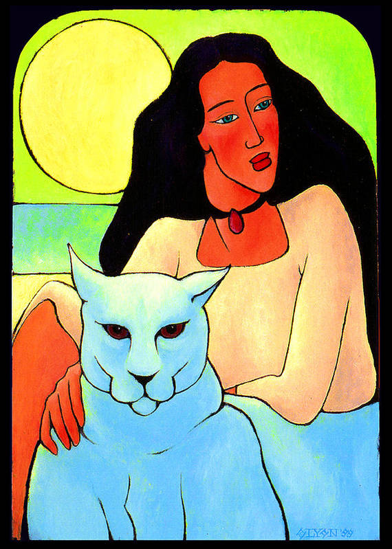 Tablitos Poster featuring the painting Under The Sun by Angela Treat Lyon