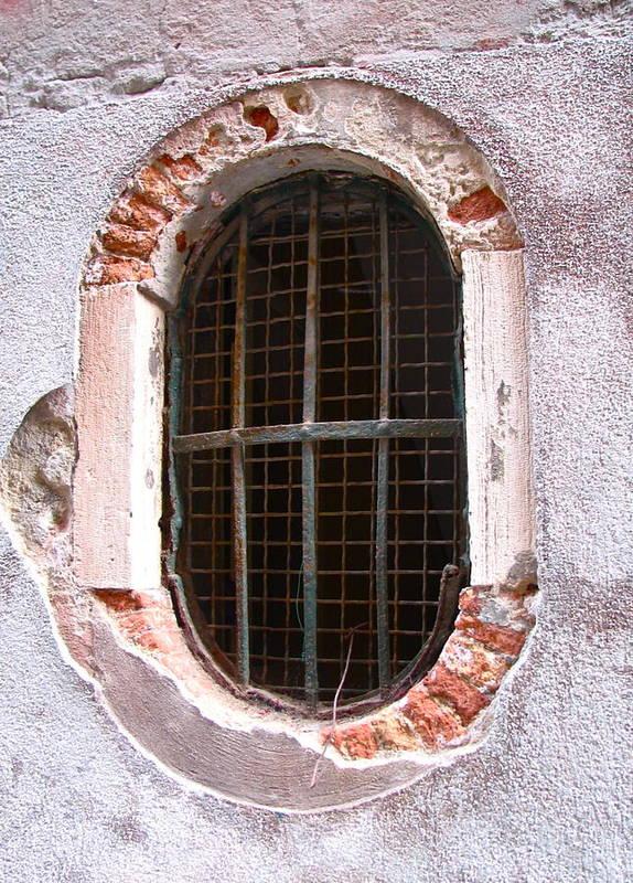 Angelica Dichiara Poster featuring the photograph Venetian Window by Italian Art