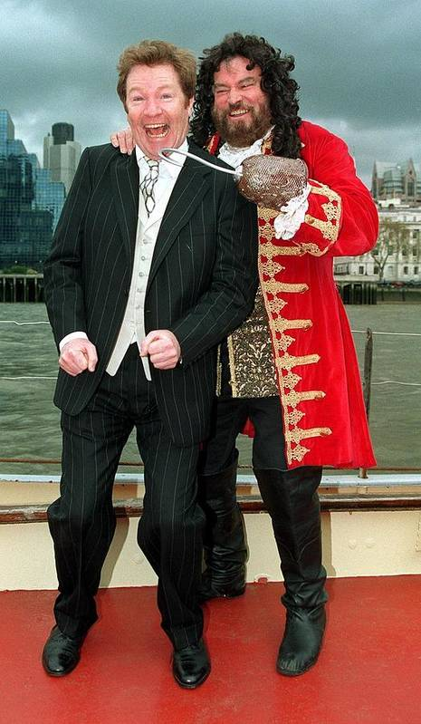 Jez C Self Poster featuring the photograph Jim Davidson And Brian Blessed by Jez C Self