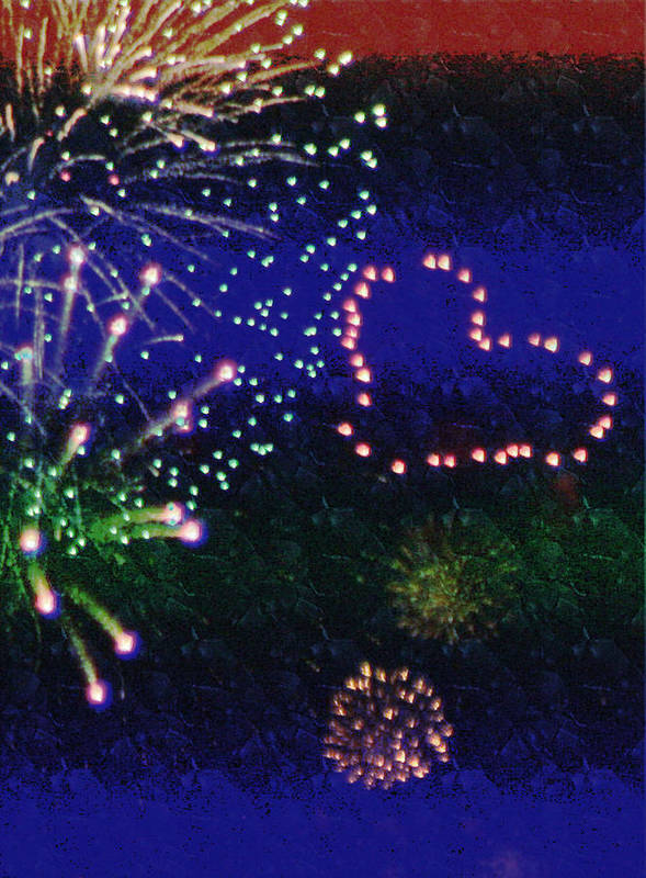 Fireworks Poster featuring the photograph My 4th Of July by Janie Johnson