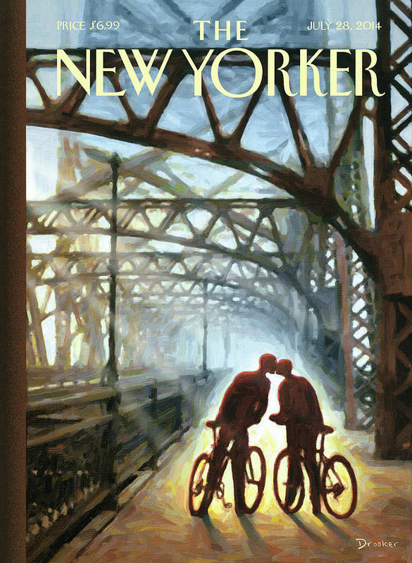 Bicycle Poster featuring the painting Fifty Ninth Street Bridge by Eric Drooker