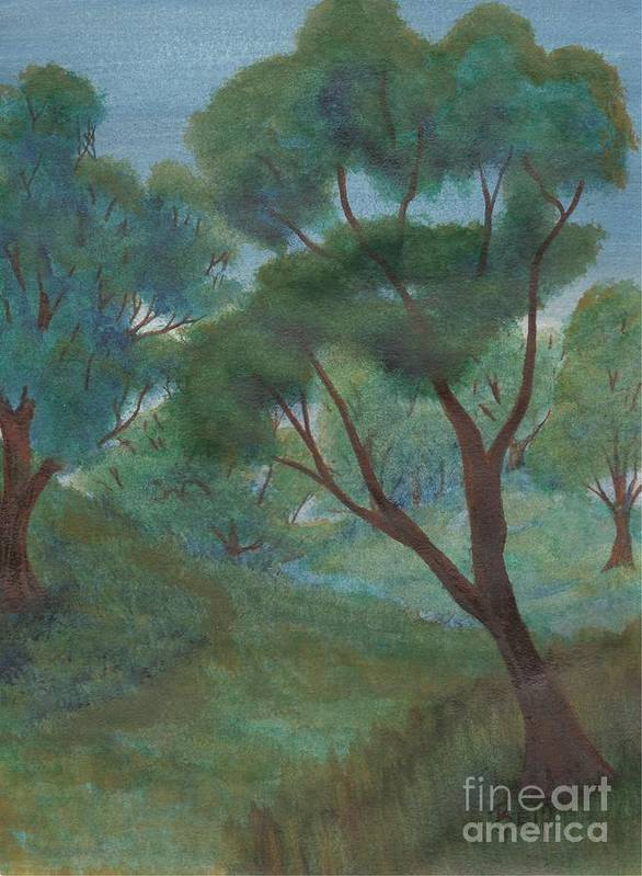 Watercolor Poster featuring the painting A Thought Of Summer by Robert Meszaros
