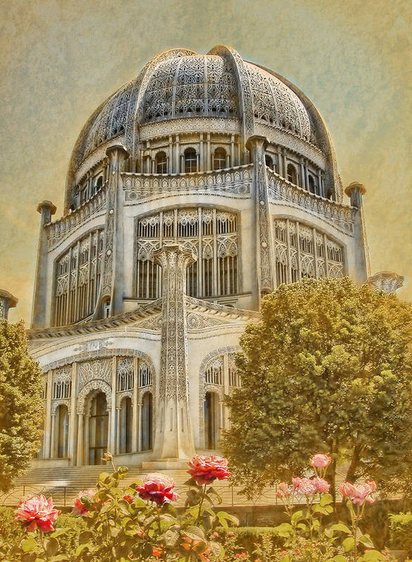 Architecture Poster featuring the photograph Baha'i Temple In Wilmette by Rudy Umans