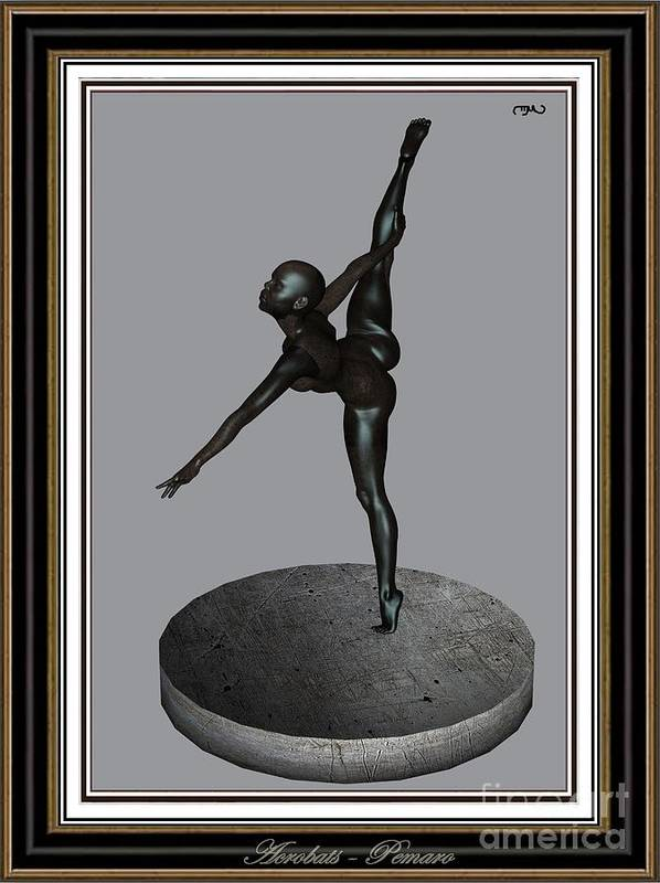 Modern Painting Poster featuring the painting erotic acrobatics 6EA 2 by Pemaro