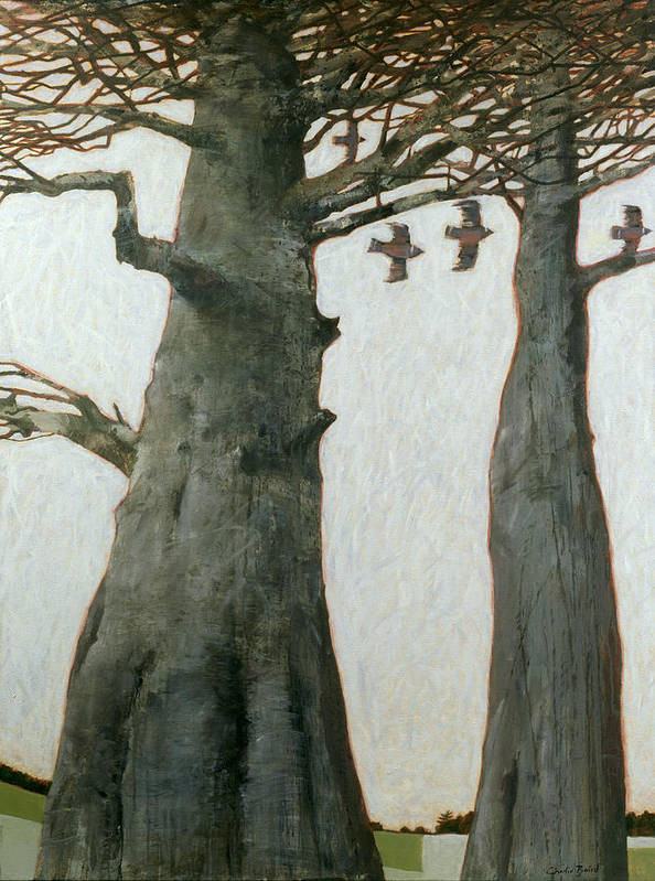 Landscapes Poster featuring the painting Heartwood by Charlie Baird
