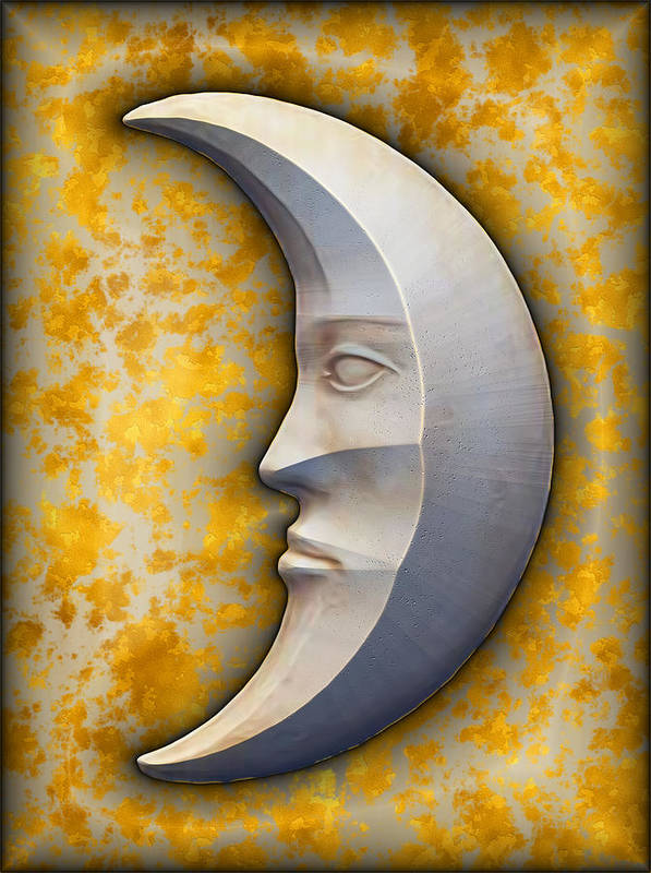 Art166.com Poster featuring the digital art I See The Moon 1 by Wendy J St Christopher