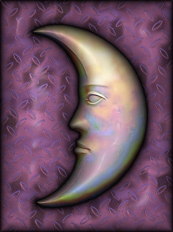 Moon Poster featuring the digital art I See The Moon 2 by Wendy J St Christopher