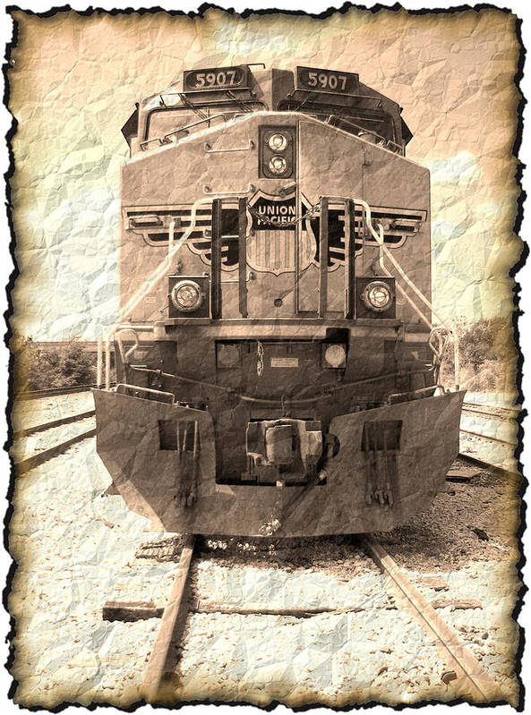 Art166 Poster featuring the digital art Last Train by Wendy J St Christopher