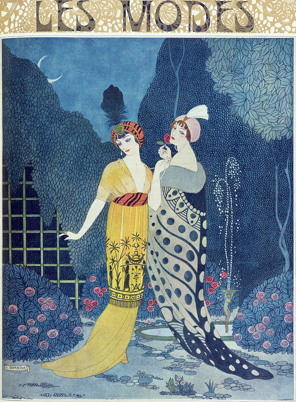 Art Deco Poster featuring the painting Les Modes by Georges Barbier