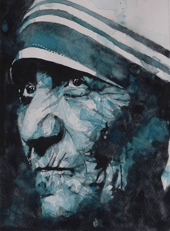 Mother Teresa Poster featuring the painting Mother Teresa by Paul Lovering