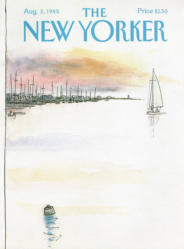 Nature Poster featuring the painting New Yorker August 5th, 1985 by Arthur Getz