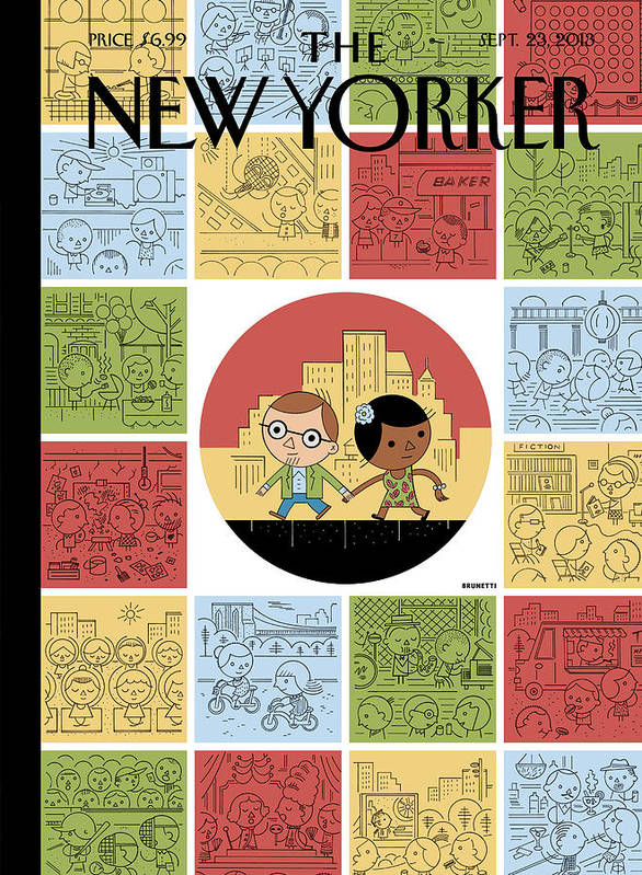 Goings On About Town Poster featuring the painting Goings On About Town by Ivan Brunetti