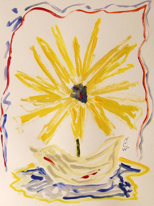 Flower Poster featuring the painting Spotlight On Yellow by Mary Carol Williams