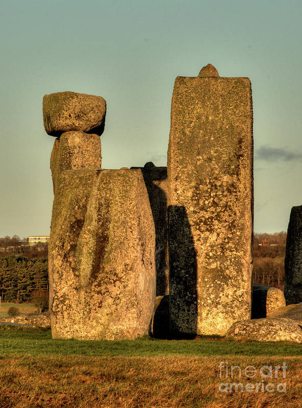 England Poster featuring the photograph Stonehenge At Sunset by Deborah Smolinske