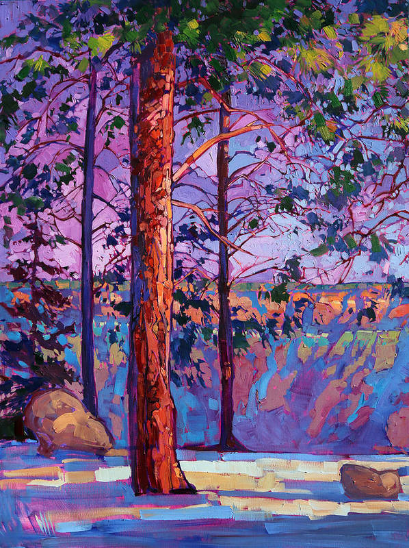 The North Rim Paintings Poster featuring the painting The North Rim Hexaptych - Panel 1 by Erin Hanson