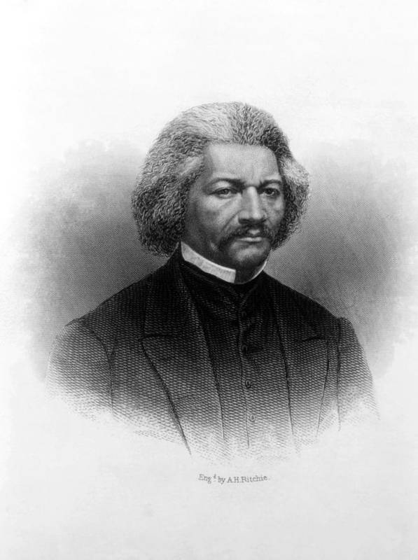 19th Century Portrait Poster featuring the photograph Frederick Douglass Ca 1817-1895 by Everett