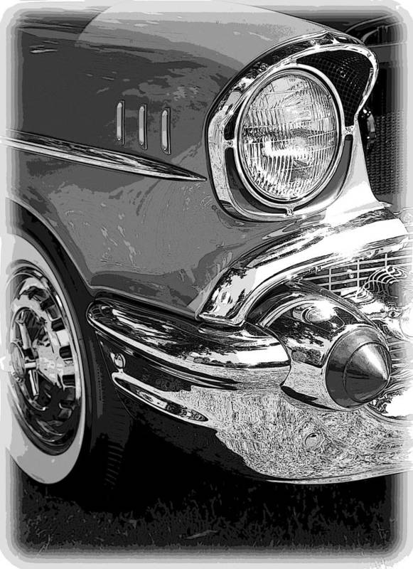 Hot Rod Poster featuring the photograph 57 Chevy by Steve McKinzie