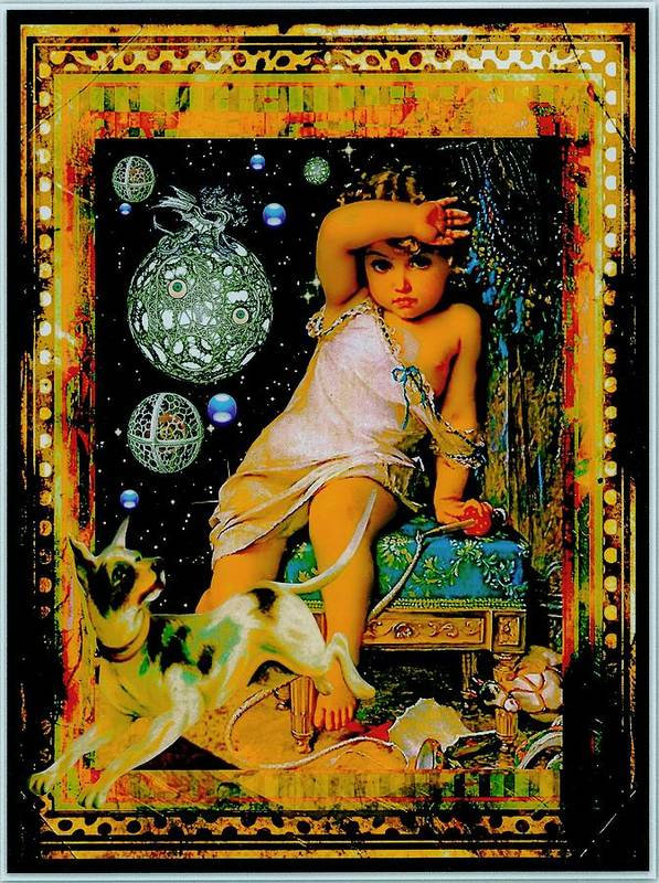 Children Poster featuring the digital art Blame It On The Dog by Janiece Senn