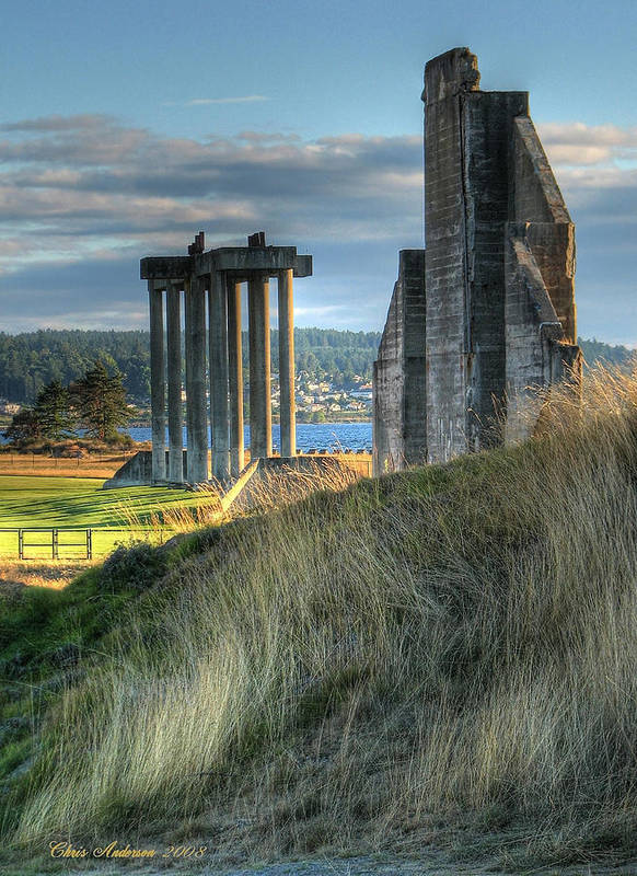 Golf Poster featuring the photograph Central Meadow Ruins by Chris Anderson