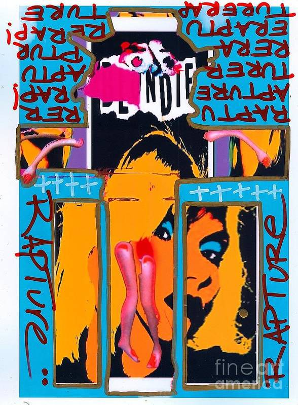 Blondie Poster featuring the drawing Jesus Rapture by Ricky Sencion