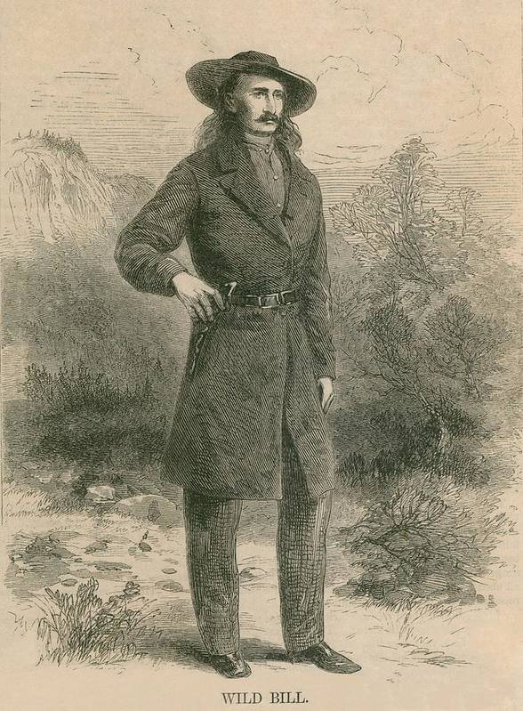 History Poster featuring the photograph Wild Bill Hickok 1837-1876, Portrait by Everett