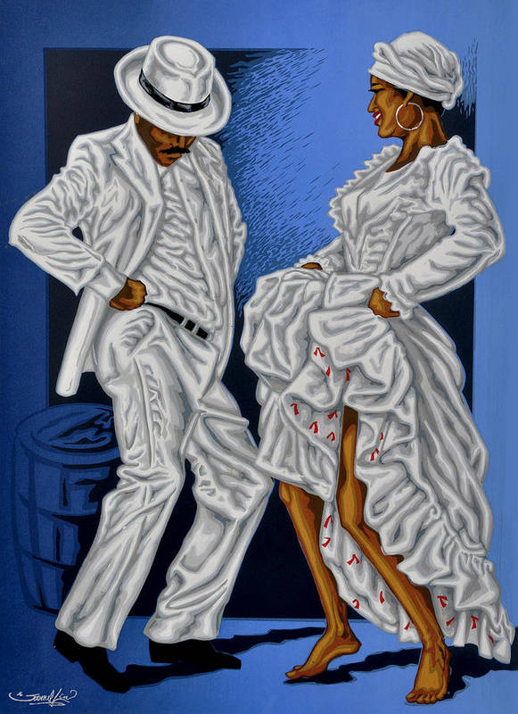 Dance Poster featuring the mixed media Baile De Figura by Samuel Lind