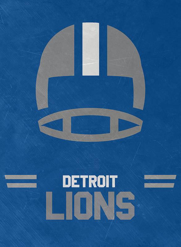 reputable site cafc4 99666 Detroit Lions Vintage Art Poster