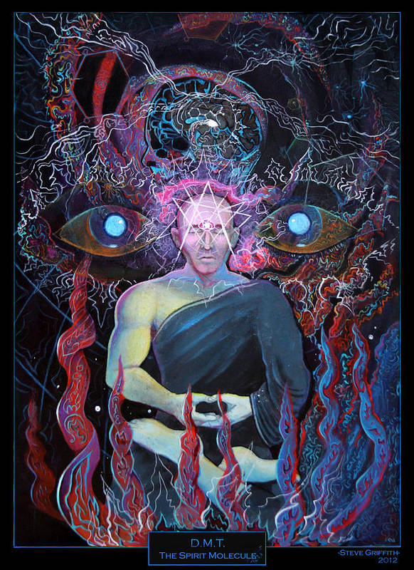 Steve Griffith Poster featuring the painting Dmt - The Spirit Molecule by Steve Griffith