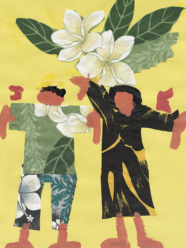 Aloha Poster featuring the painting Happy People by Katie OBrien - Printscapes