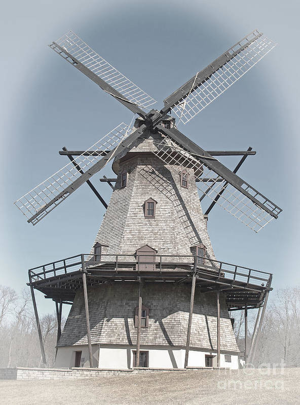 Windmill Poster featuring the photograph Historic Windmill by Ann Horn