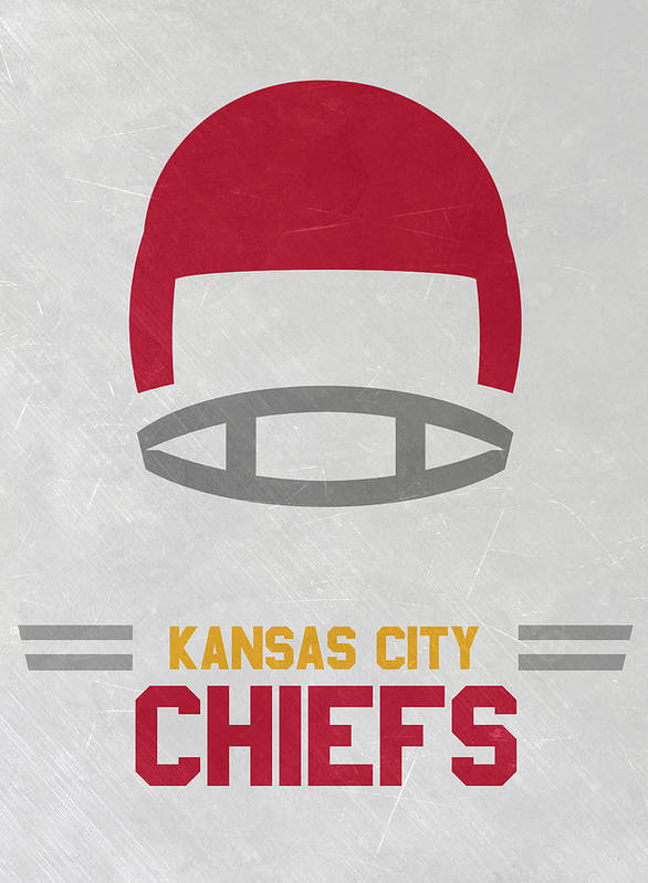 Chiefs Poster featuring the mixed media Kansas City Chiefs Vintage Art by Joe Hamilton