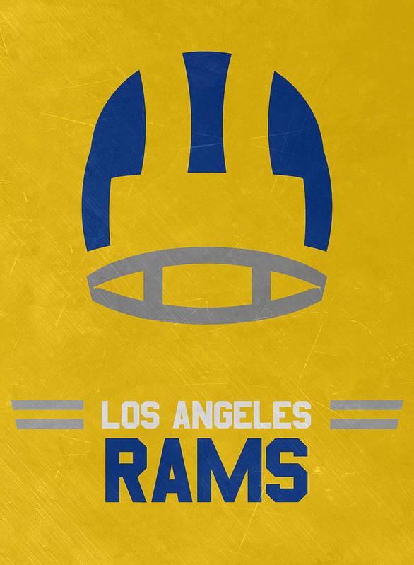 Los Angeles Rams Vintage Art Poster