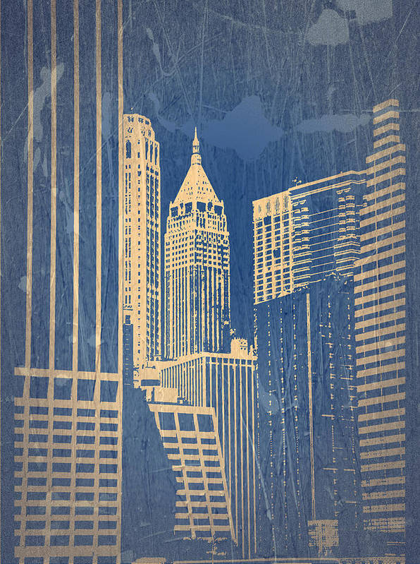 Chrysler Building Poster featuring the photograph Manhattan 1 by Naxart Studio