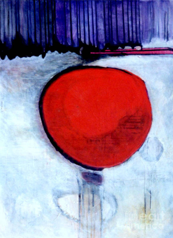 Red Poster featuring the painting Red Twin Jump Start by Marlene Burns