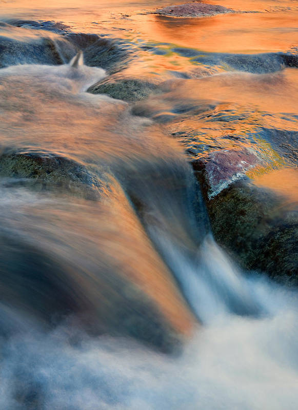 Waterfall Poster featuring the photograph Sandstone Reflections by Mike Dawson