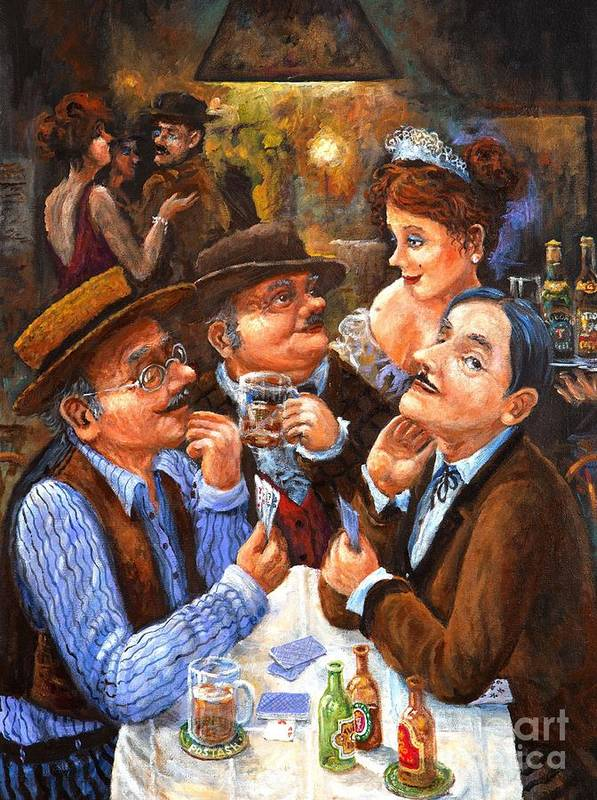 Figurative Poster featuring the painting The Cheater by Igor Postash