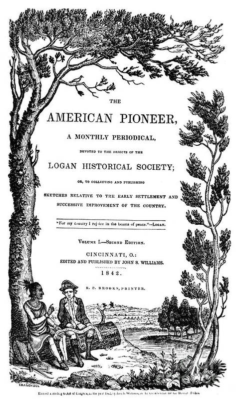 1842 Poster featuring the photograph American Pioneer, 1842 by Granger