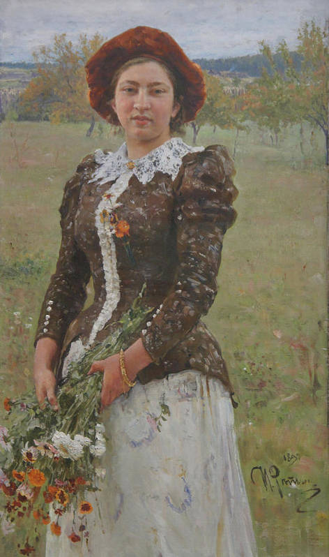 Ilya Repin Poster featuring the painting Autumn Bouquet by Ilya Repin