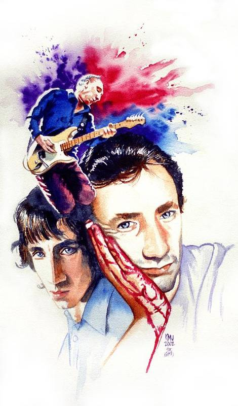 The Who Poster featuring the painting Pete Townshend by Ken Meyer jr