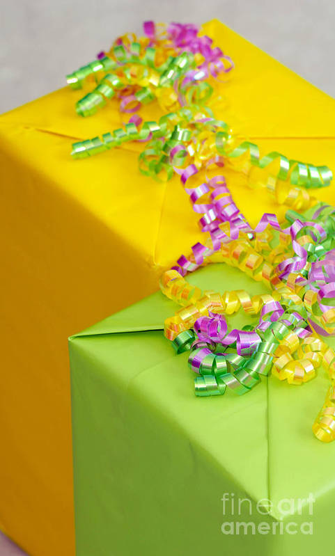 Birthday Poster featuring the photograph Gifts With Ribbon by Amy Cicconi