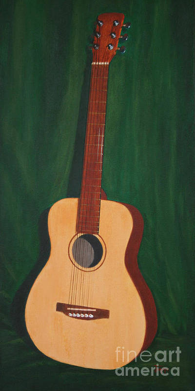 Guitar Poster featuring the painting The Guitar by Jimmie Bartlett