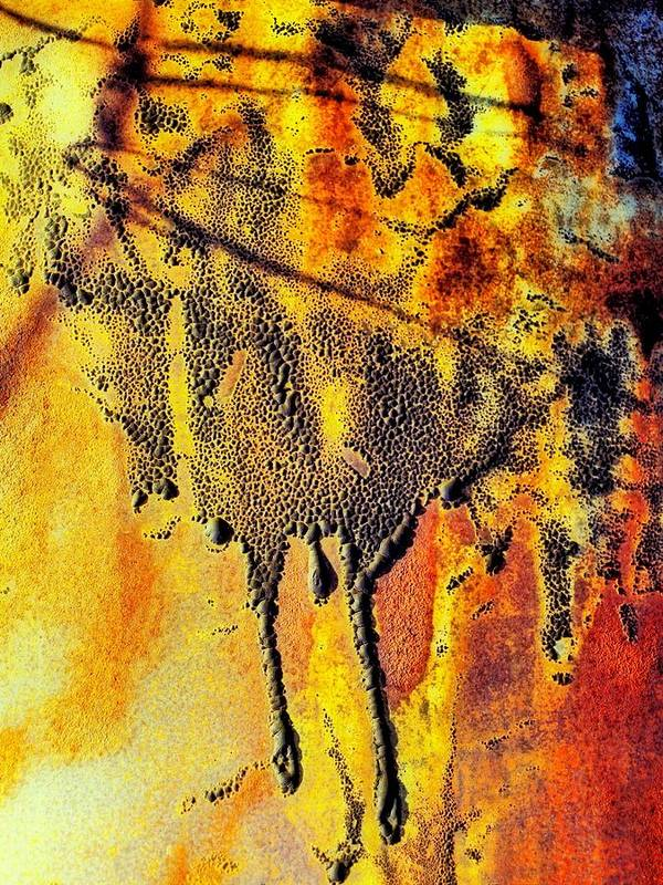 Abstract Poster featuring the photograph Ablaze by Tom Druin